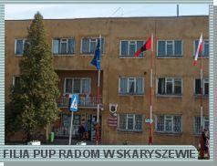 Zdjęcie przedstawia budynek, w którym mieści się Filia PUP w Skaryszewie